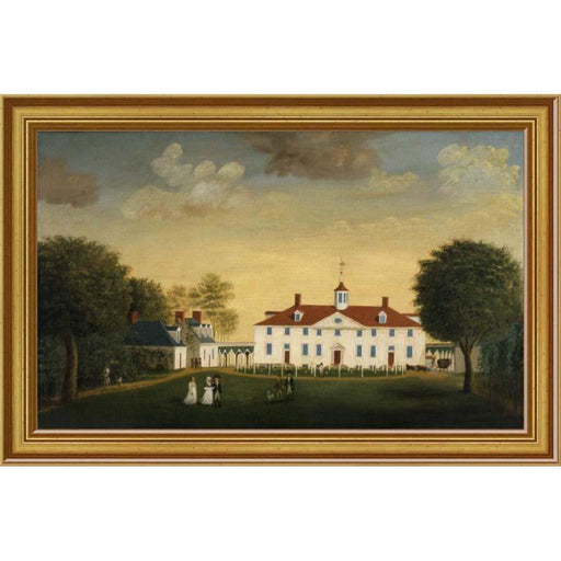 Mount Vernon 1792 West Front Print - BENTLEY GLOBAL ARTS GROUP - The Shops at Mount Vernon