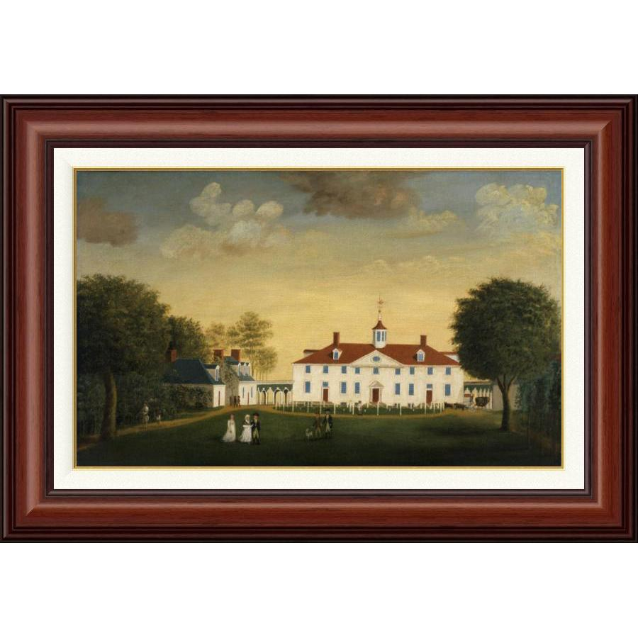 Mount Vernon 1792 West Front in Mahogany Frame – The Shops at Mount ...