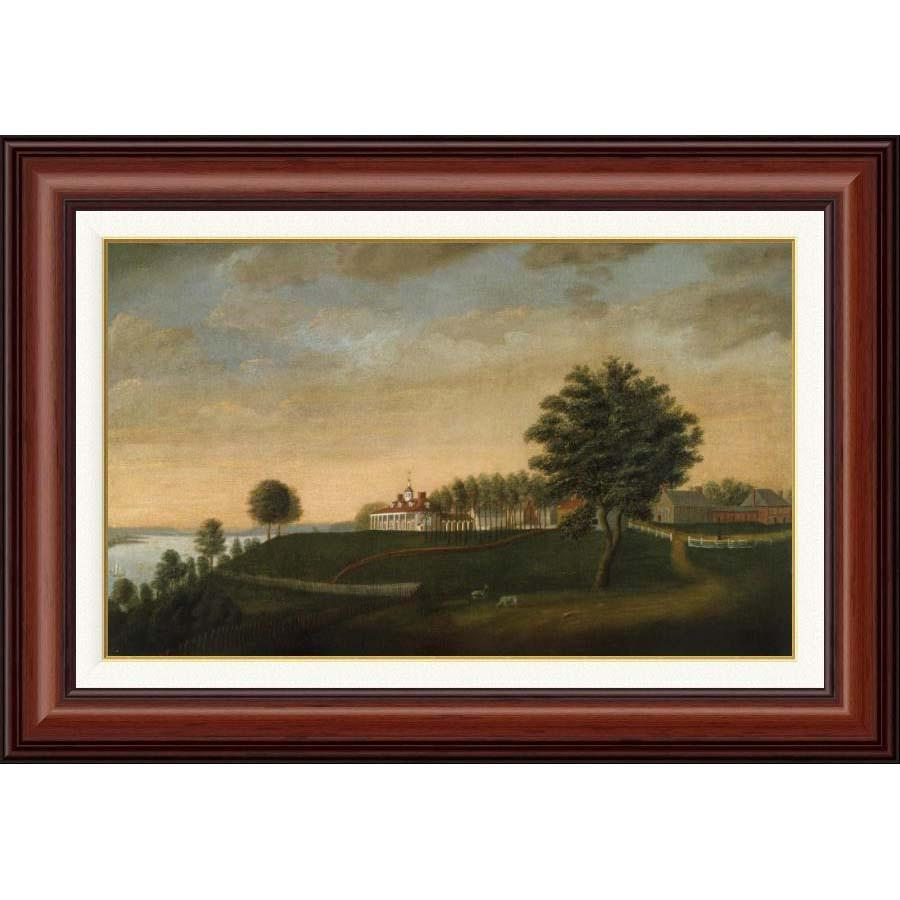 Mount Vernon 1792 East Front in Mahogany Frame – The Shops at Mount ...