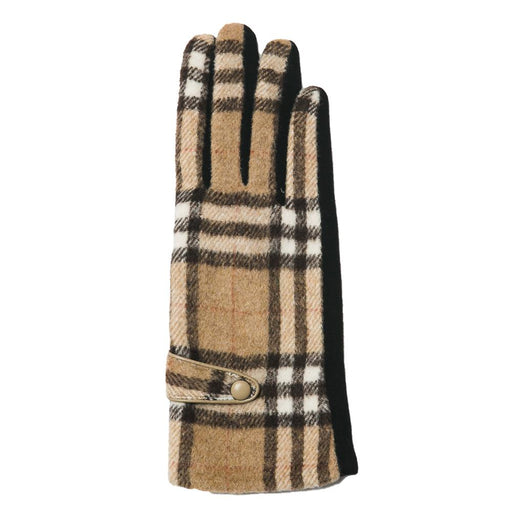 Camel Plaid Brooklyn Gloves - TOP IT OFF - The Shops at Mount Vernon