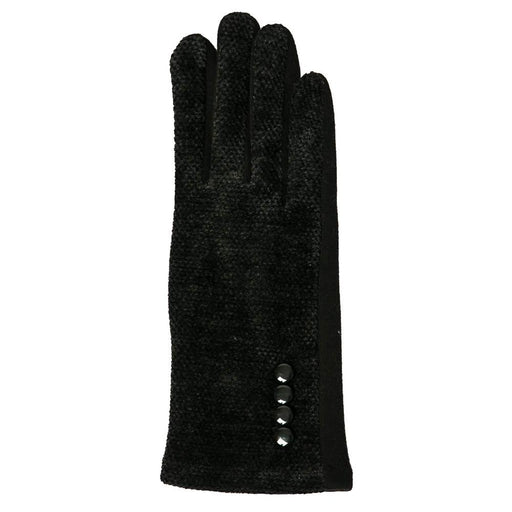 Black Chenille Gloves - TOP IT OFF - The Shops at Mount Vernon