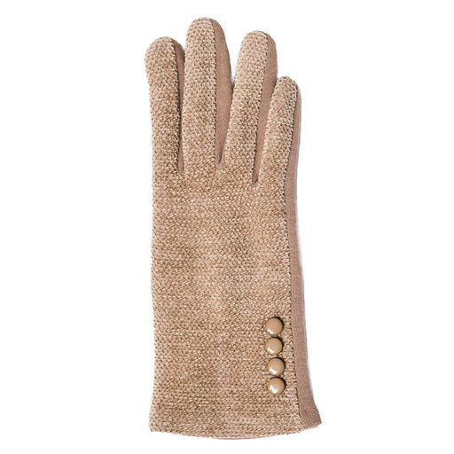 Camel Chenille Gloves - TOP IT OFF - The Shops at Mount Vernon