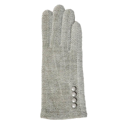 Grey Chenille Gloves - TOP IT OFF - The Shops at Mount Vernon