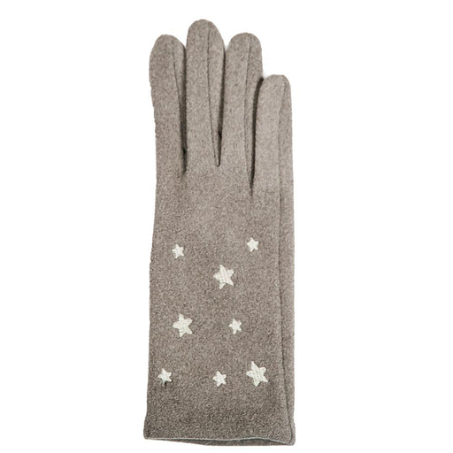 Grey Libby Glove with Stars - TOP IT OFF - The Shops at Mount Vernon
