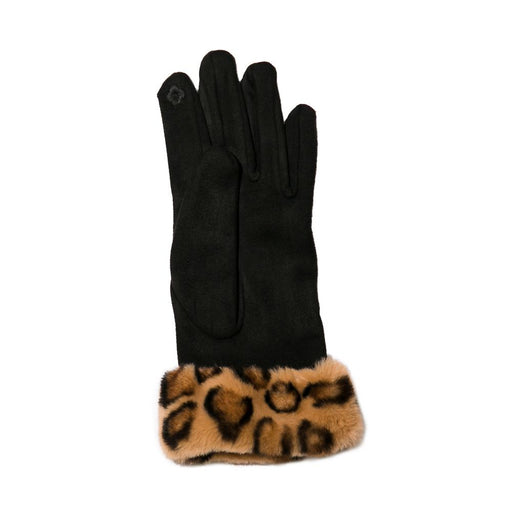 Black Leopard Cuff Gloves - TOP IT OFF - The Shops at Mount Vernon
