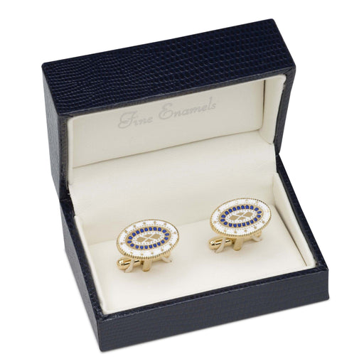 George Washington Enamel Cufflinks - The Shops at Mount Vernon - The Shops at Mount Vernon