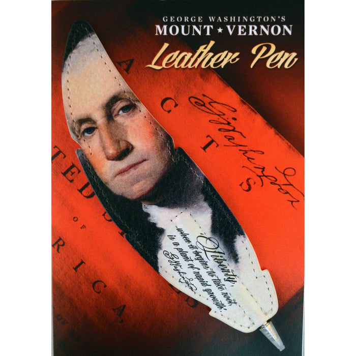 George Washington Leather Pen - The Shops at Mount Vernon - The Shops at Mount Vernon