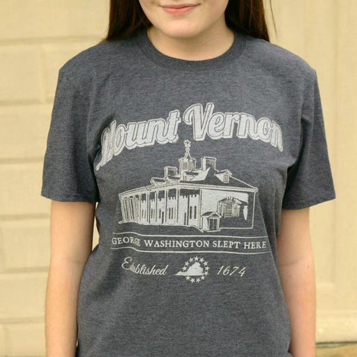 George Washington Slept Here T-Shirt - The Shops at Mount Vernon - The Shops at Mount Vernon