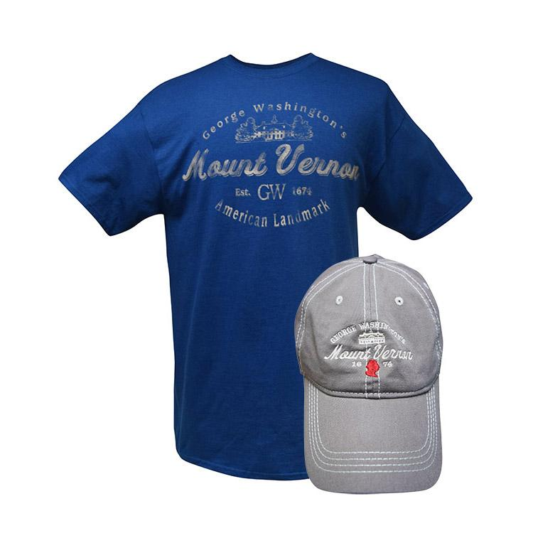Mount Vernon Harbor Blue and Mocha T-shirt & Cap Combo