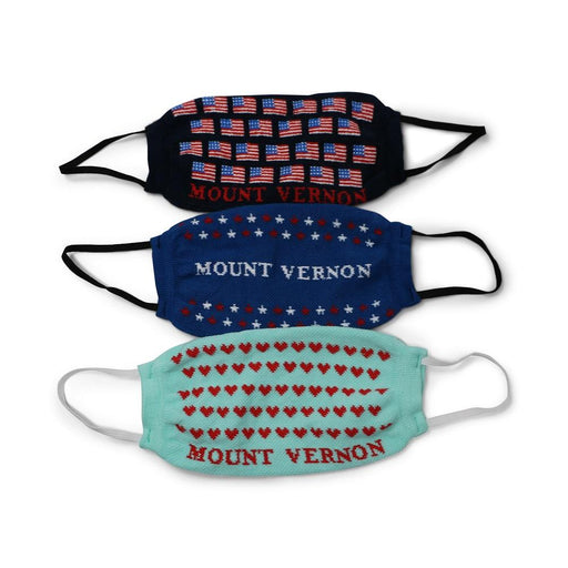 Mount Vernon Flag Mask - Sock Club LLC - The Shops at Mount Vernon