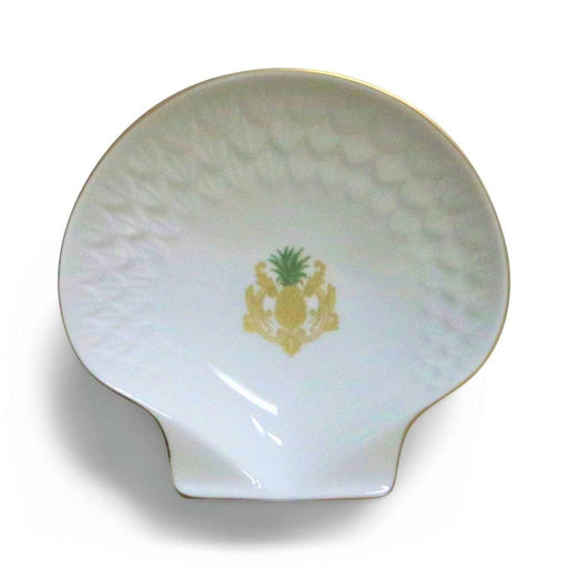 Charlotte Moss White Pineapple Shell Dish - Pickard China - The Shops at Mount Vernon
