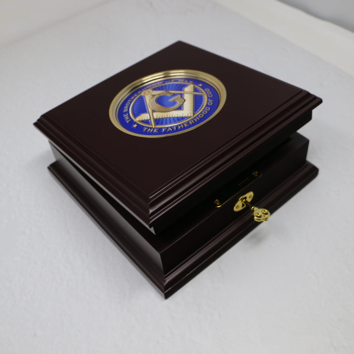 GW Masonic Wooden Keepsake Box - DESIGN MASTER ASSOCIATES - The Shops at Mount Vernon