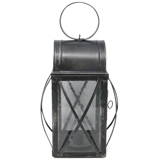 Bubble Glass Cross-Braced Early American Tin Lantern - The Shops at Mount Vernon - The Shops at Mount Vernon