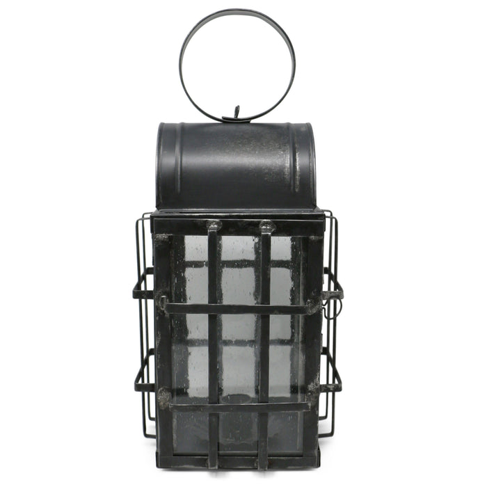Bubble Glass Grid-Braced Early American Tin Lantern - The Shops at Mount Vernon - The Shops at Mount Vernon