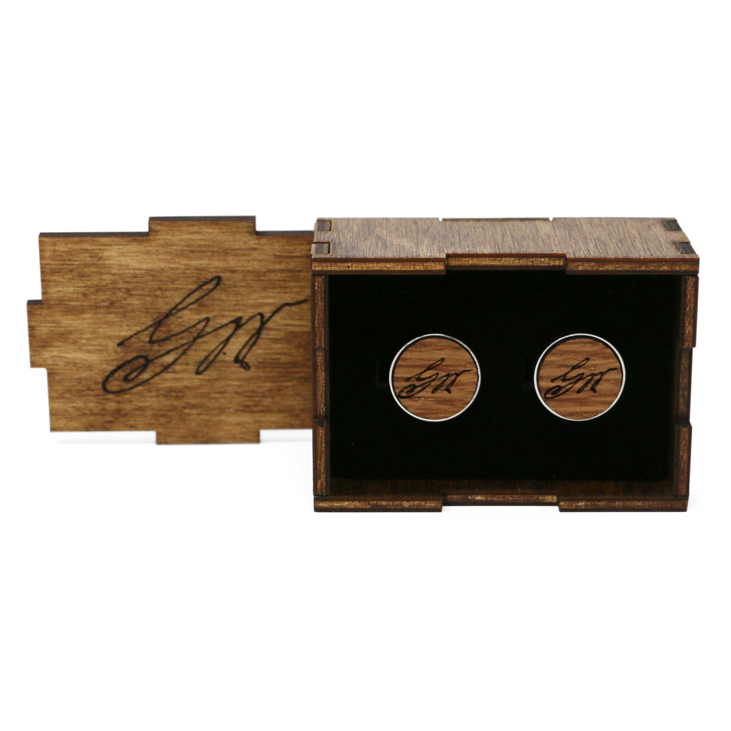 George Washington Wood Cufflinks