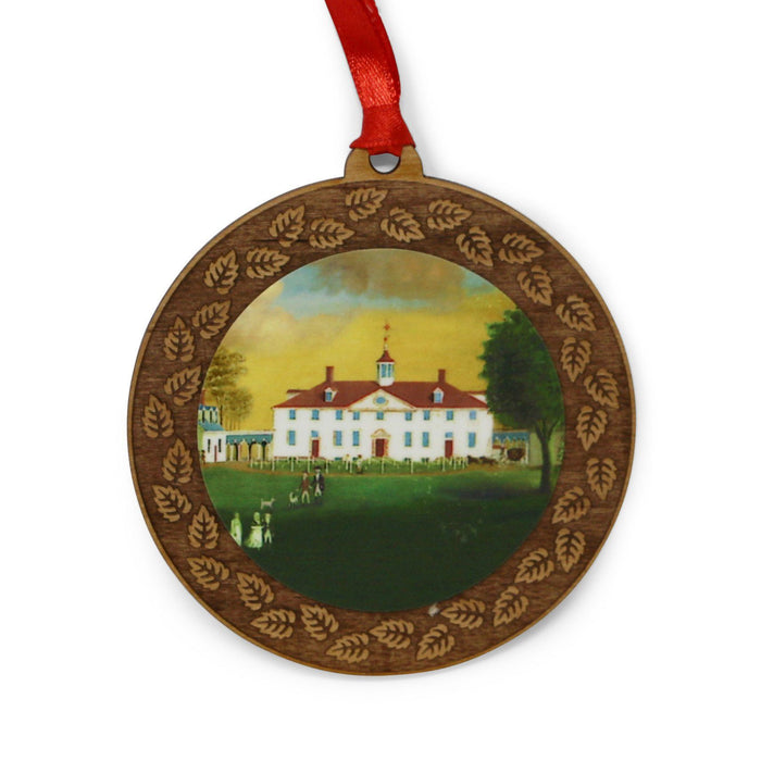 Mount Vernon's 1792 Wood Wreath Ornament - LDA - The Shops at Mount Vernon