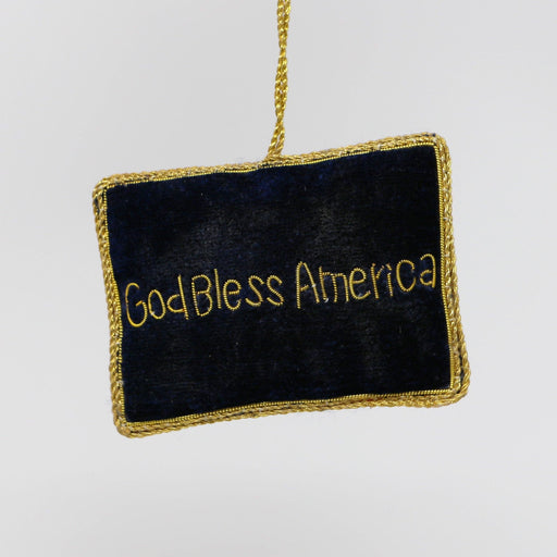 Embroidered US Flag Ornament - ST NICOLAS LTD. - The Shops at Mount Vernon