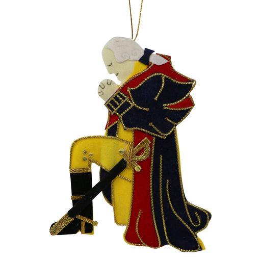 George Washington at Prayer Ornament - ST NICOLAS LTD. - The Shops at Mount Vernon