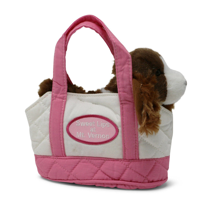 Sweetlips with Quilted Pink and White Tote - The Shops at Mount Vernon - The Shops at Mount Vernon