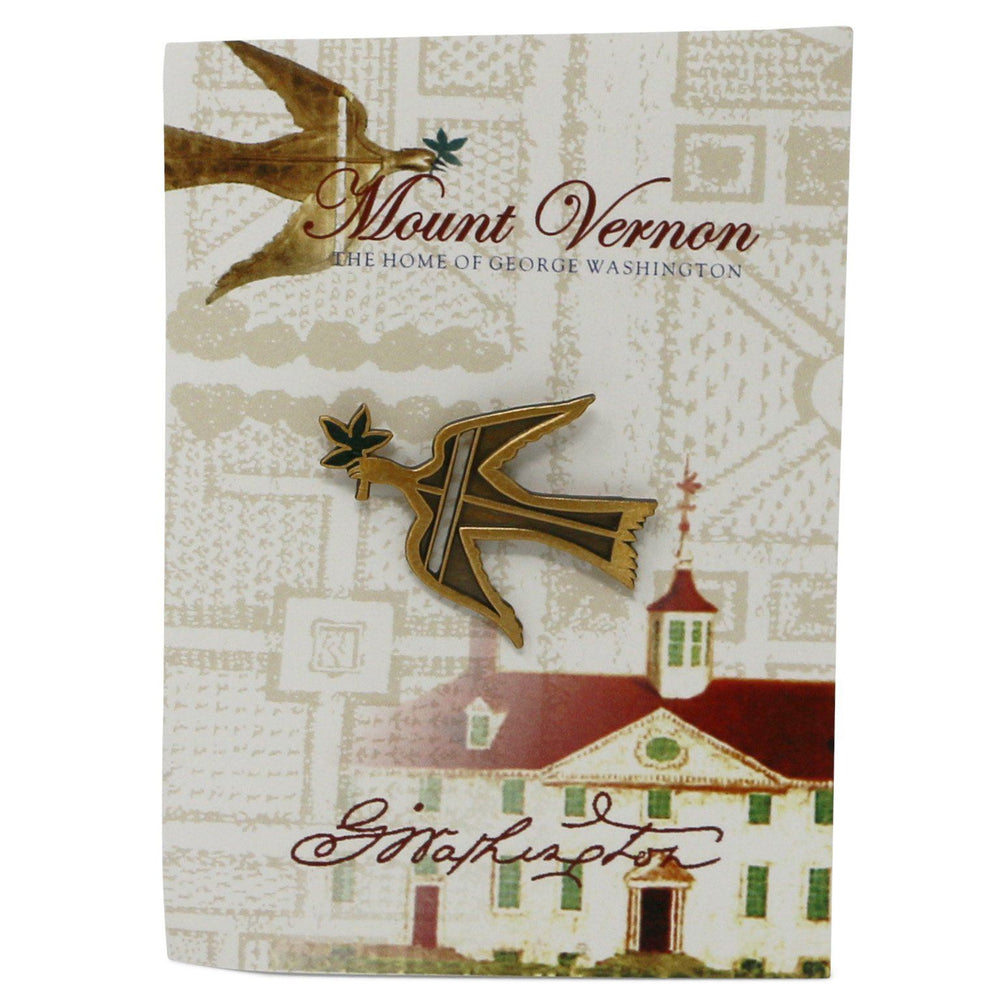 George Washington's Dove of Peace Lapel Pin - The Shops at Mount Vernon - The Shops at Mount Vernon