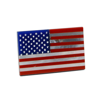 American Flag Lapel Pin with Gemstones