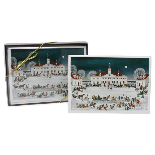 Folk Art Mount Vernon, West Front Christmas Cards - The Shops at Mount Vernon - The Shops at Mount Vernon