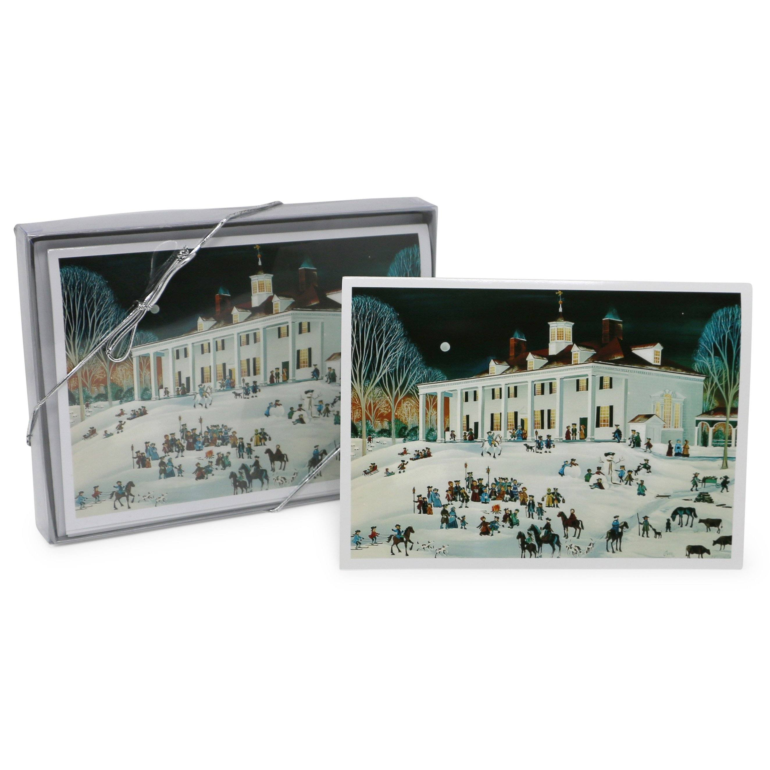 Folk Art Mount Vernon, East Front Christmas Cards – The Shops at ...