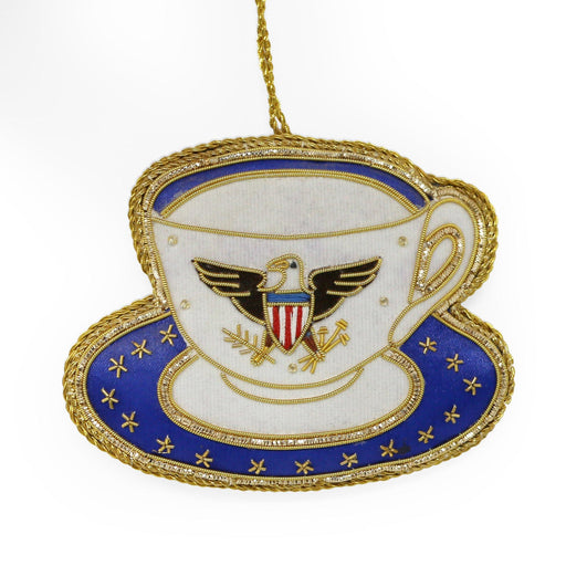 Great Seal Teacup with Eagle Ornament - ST NICOLAS LTD. - The Shops at Mount Vernon