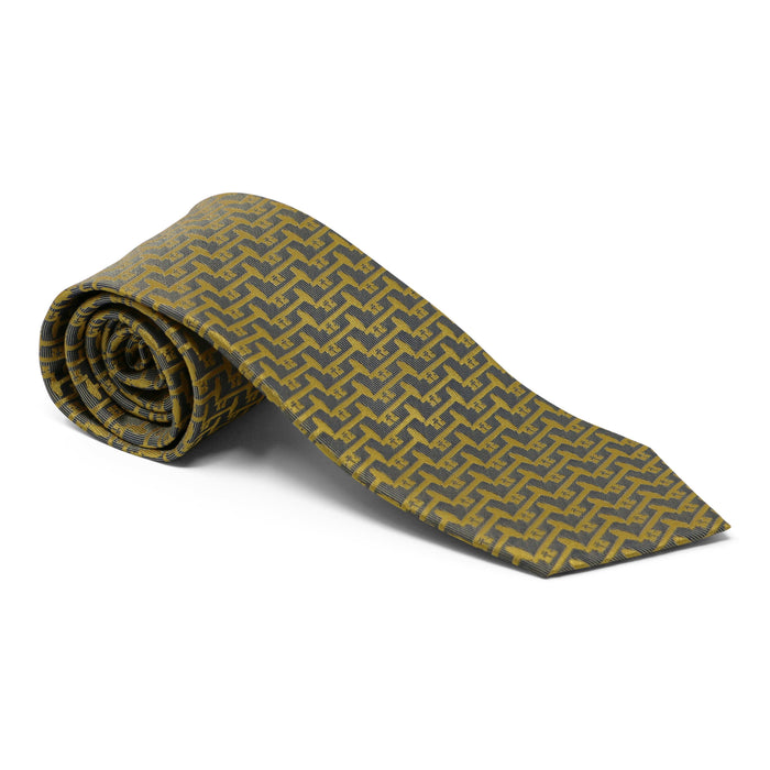 Mount Vernon Gold & Silvery Gray Bastille Key Tie - The Shops at Mount Vernon - The Shops at Mount Vernon