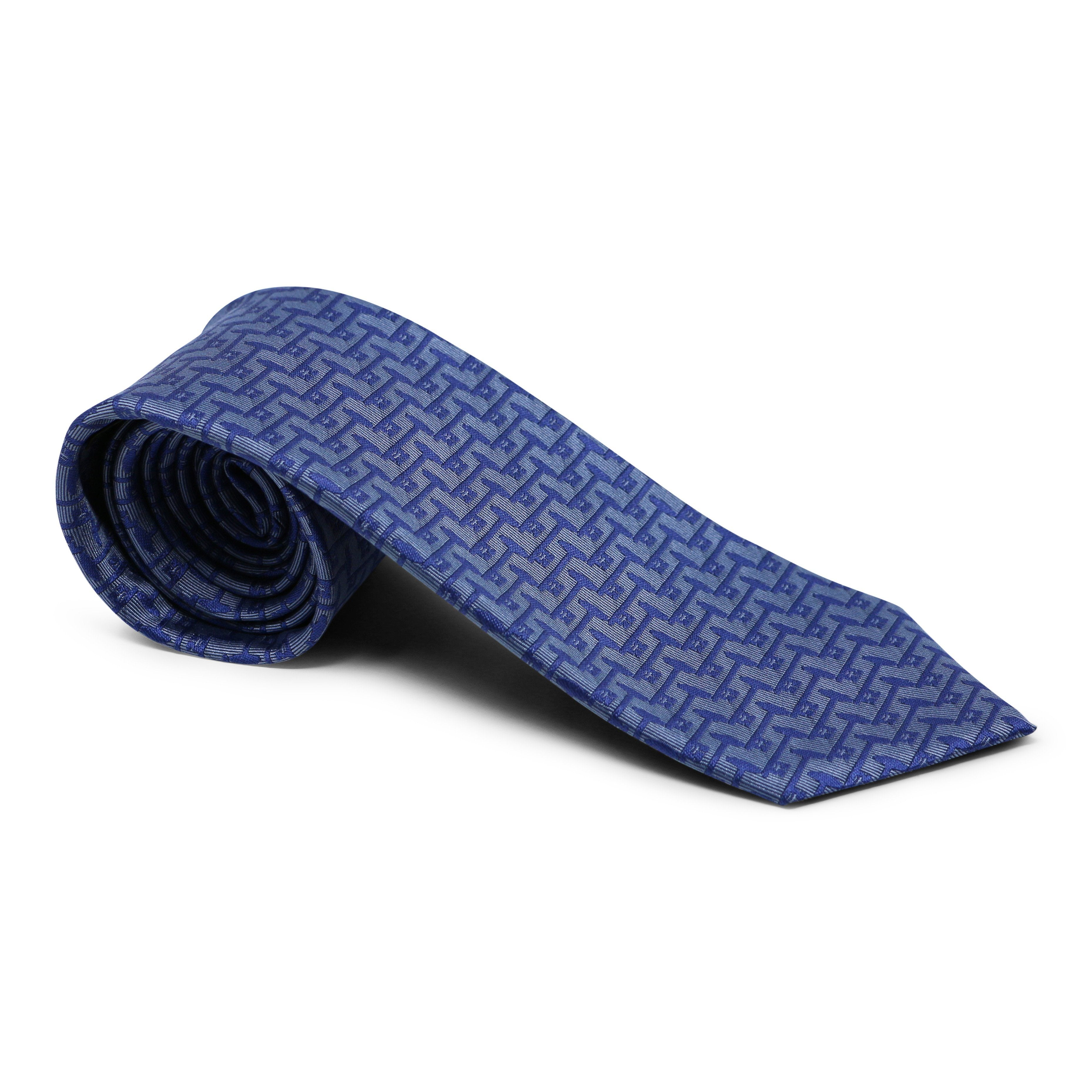 Mount Vernon Light & Dark Blue Bastille Key Tie