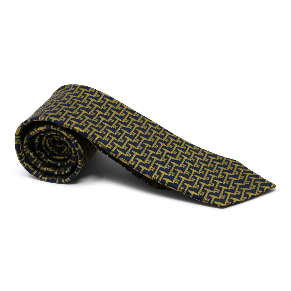 Mount Vernon Blue & Gold Bastille Key Tie - The Shops at Mount Vernon - The Shops at Mount Vernon