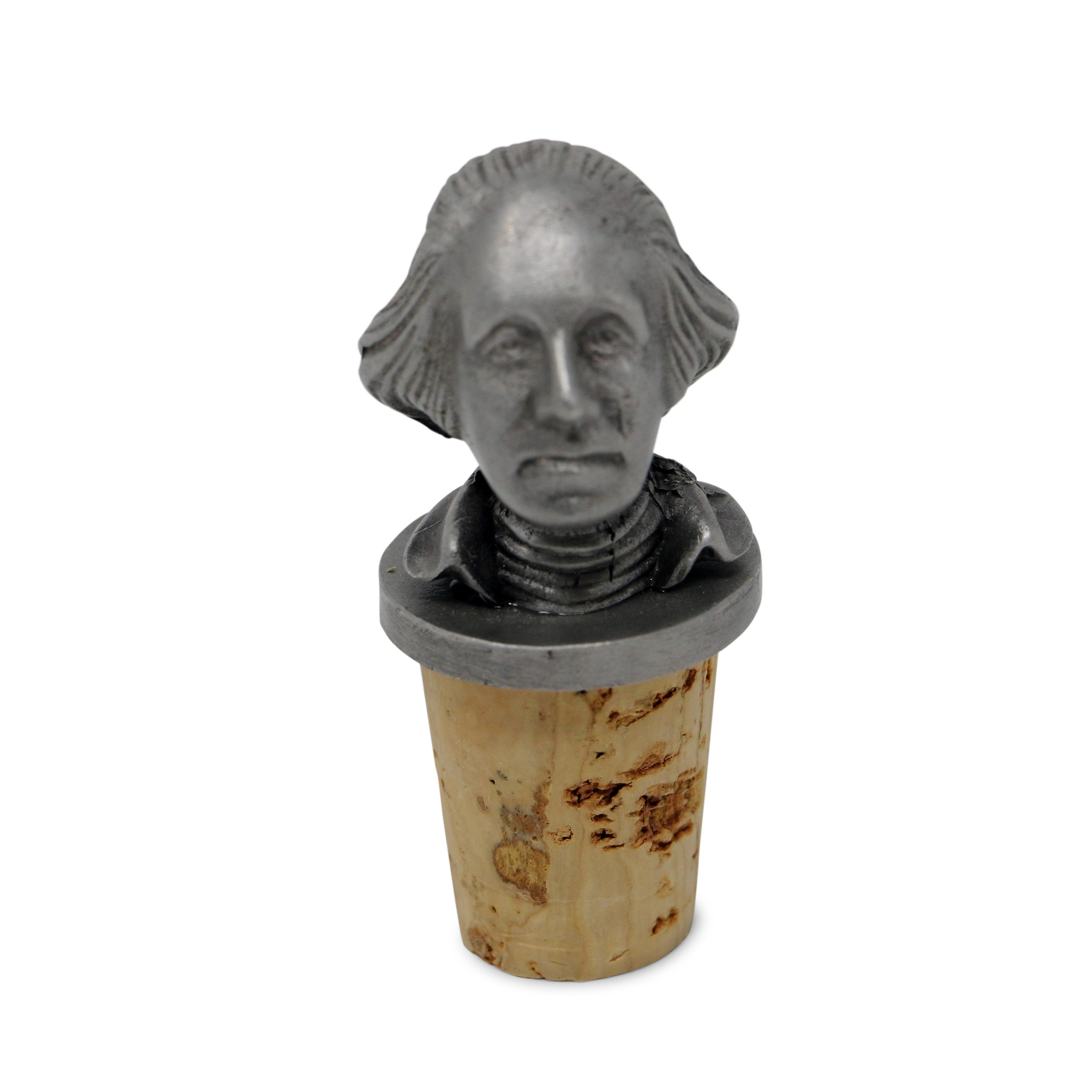 George Washington Pewter Bottle Stopper