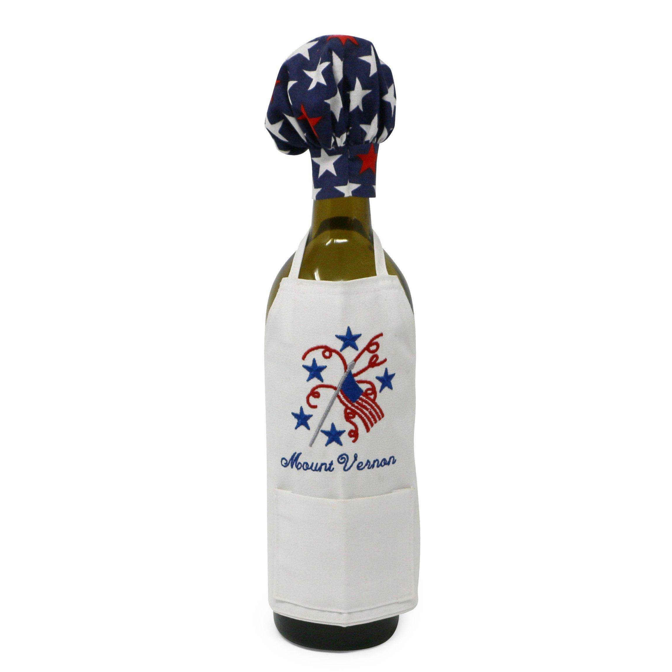 Red, White & Blue Mount Vernon Wine Bottle Apron
