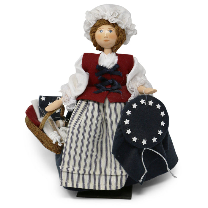 Betsy Ross Wooden Doll - Silhouette Doll - The Shops at Mount Vernon