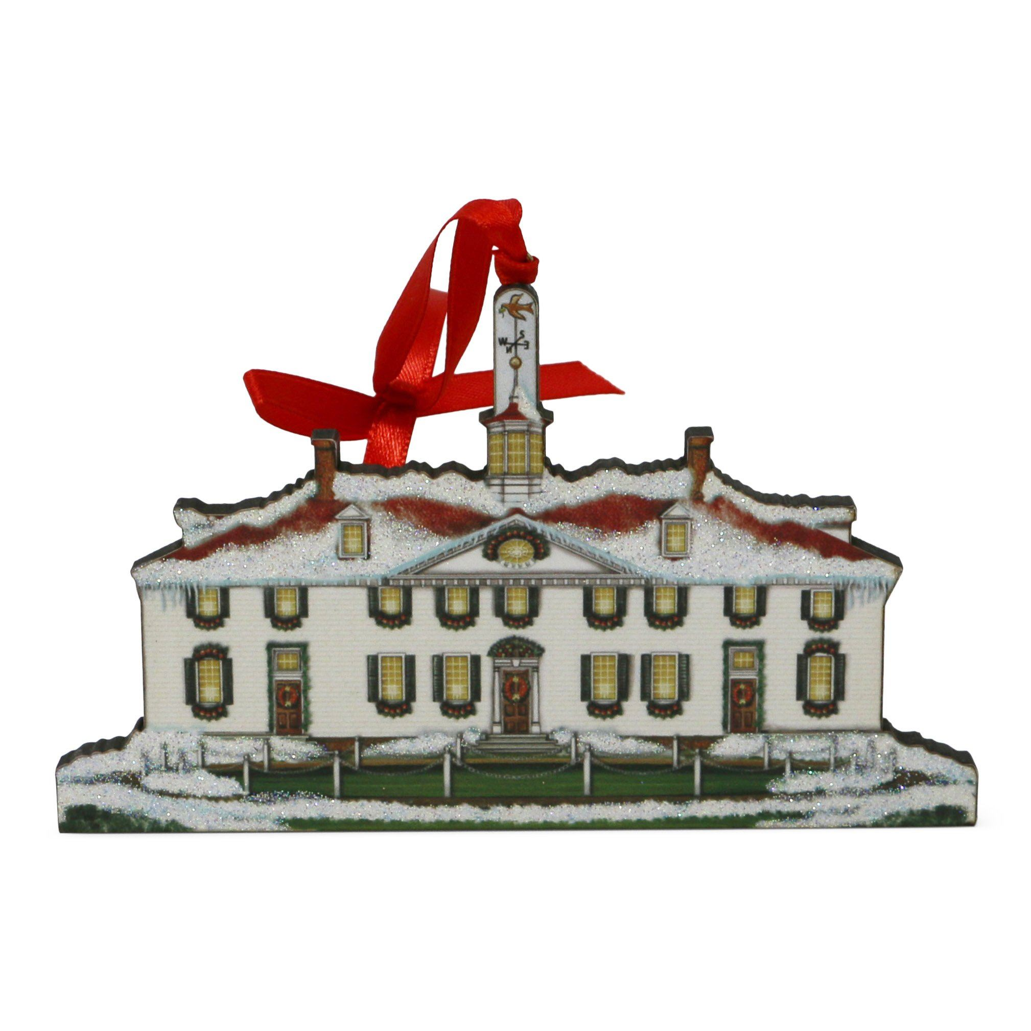 Mount Vernon West Front Wood Ornament