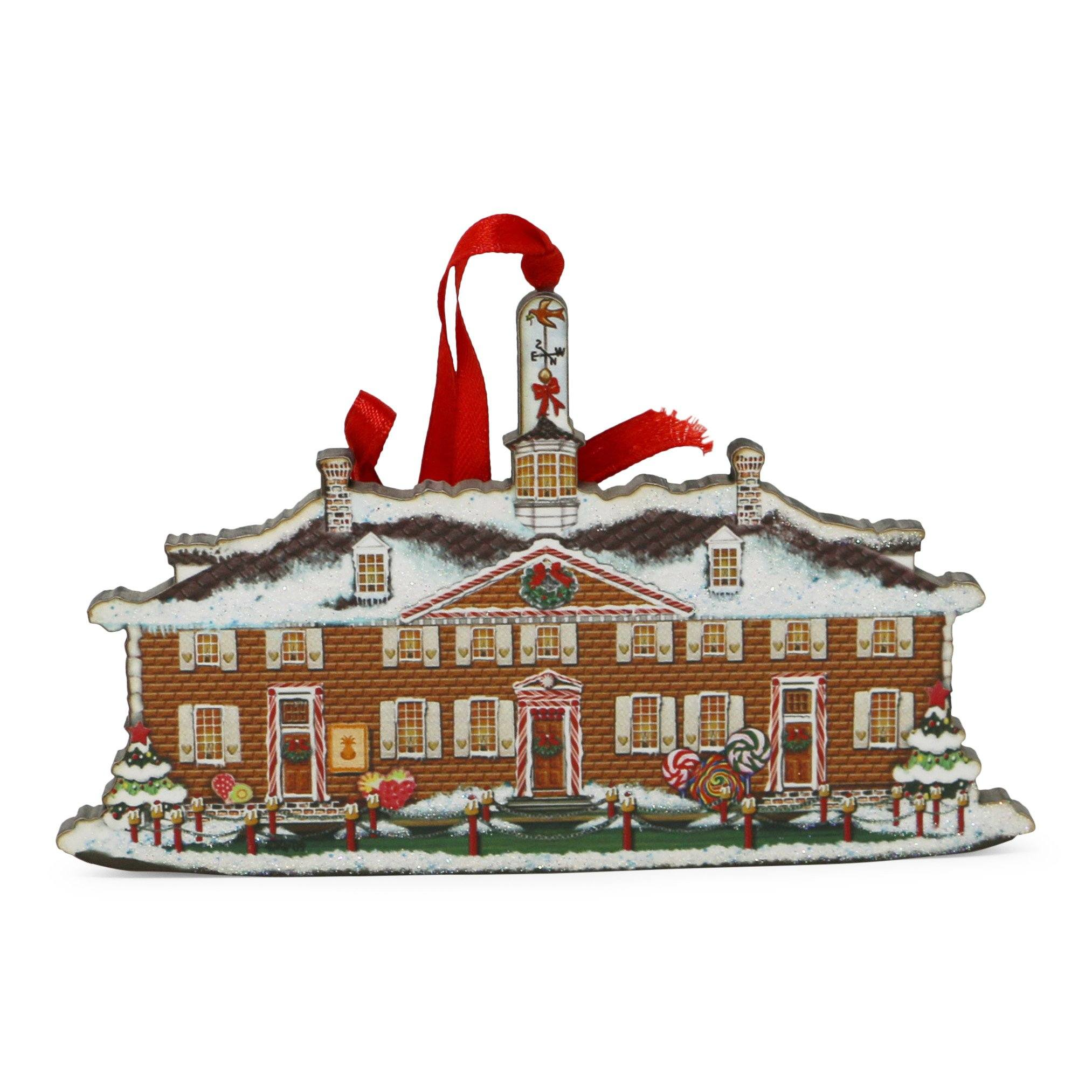 West Front Gingerbread Wood Ornament