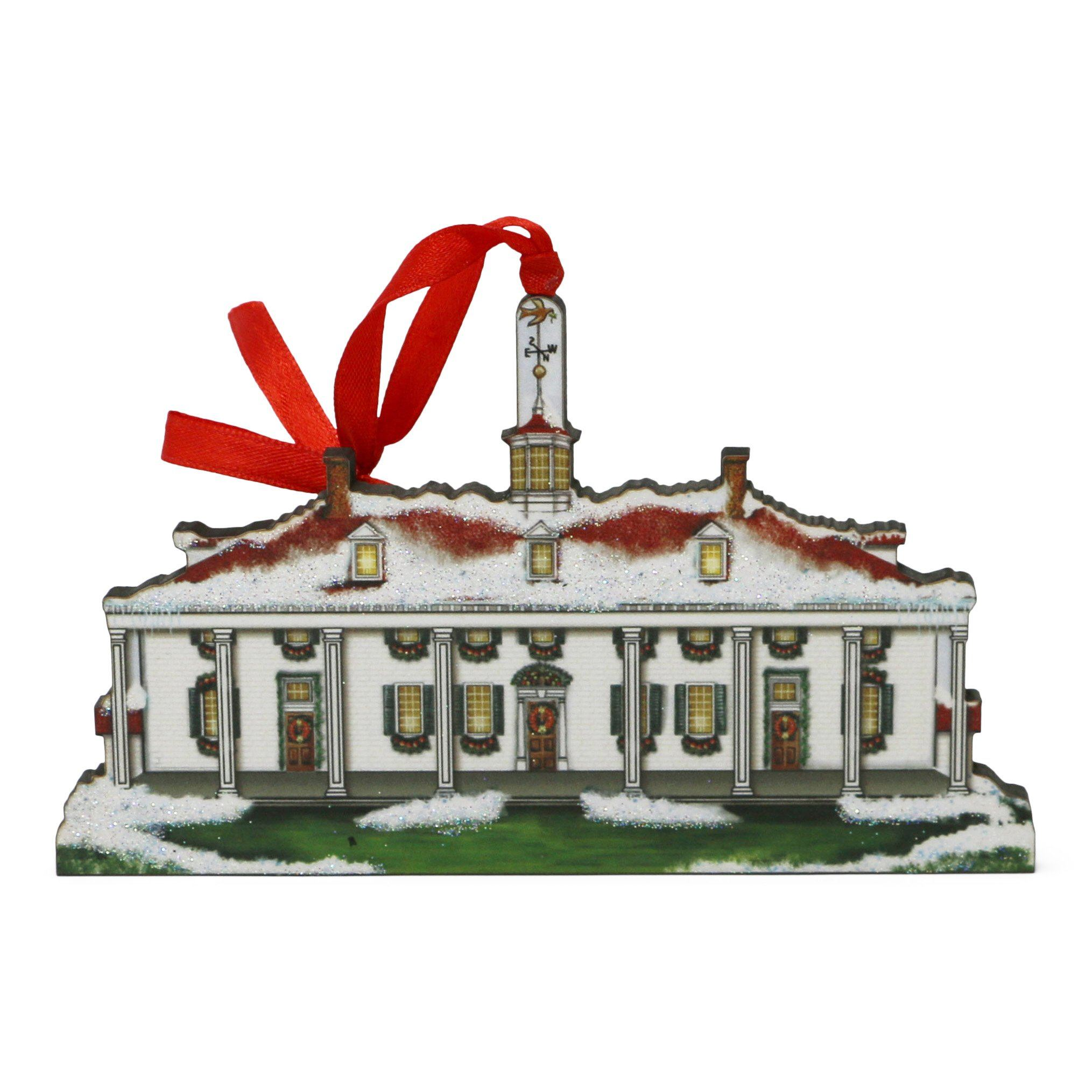 Mount Vernon East Front Wood Ornament