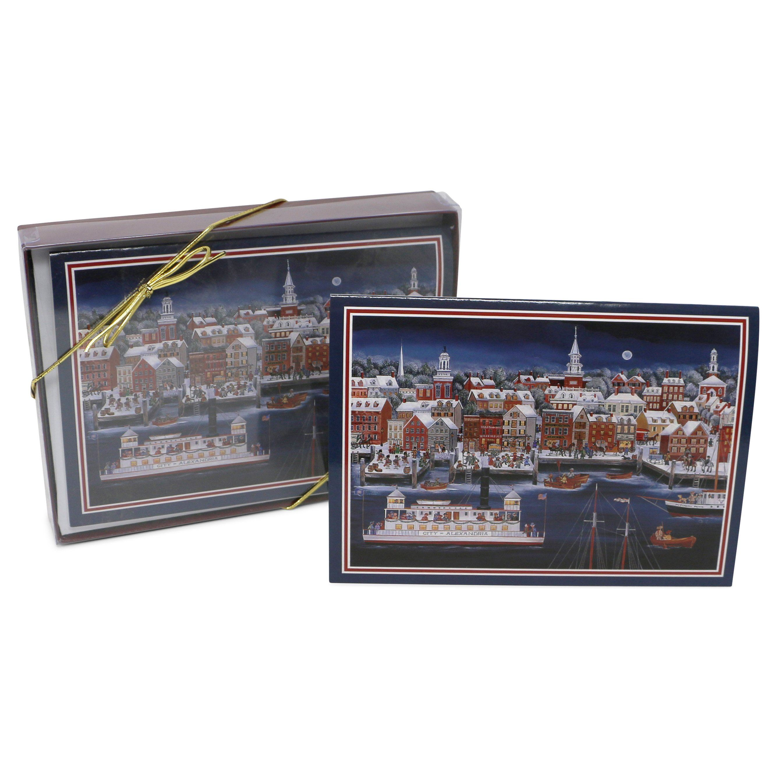 Folk Art City of Alexandria Christmas Cards – The Shops at Mount Vernon