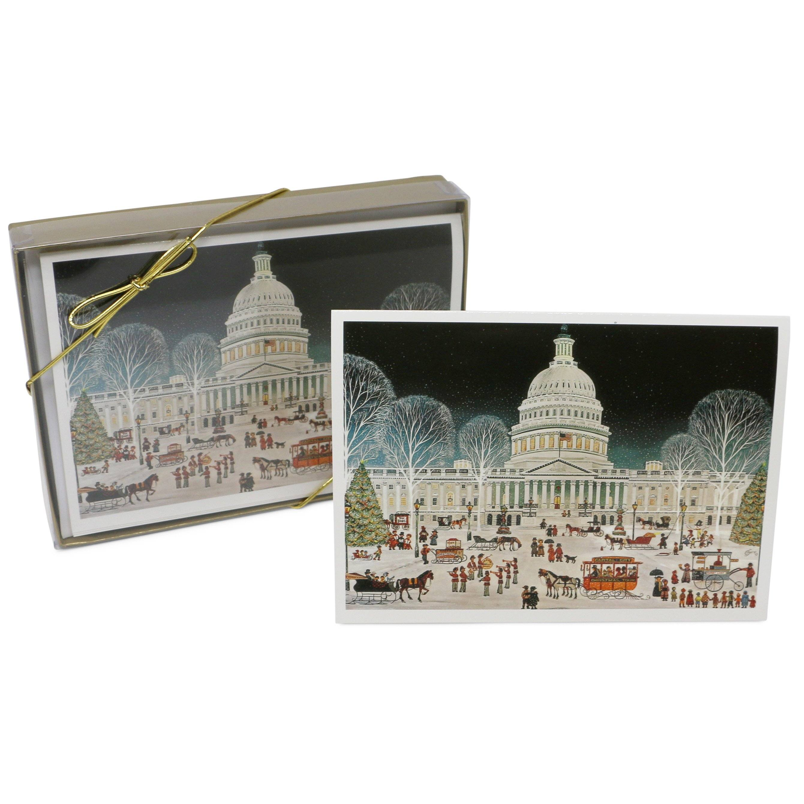 Folk Art U.S. Capitol Christmas Cards