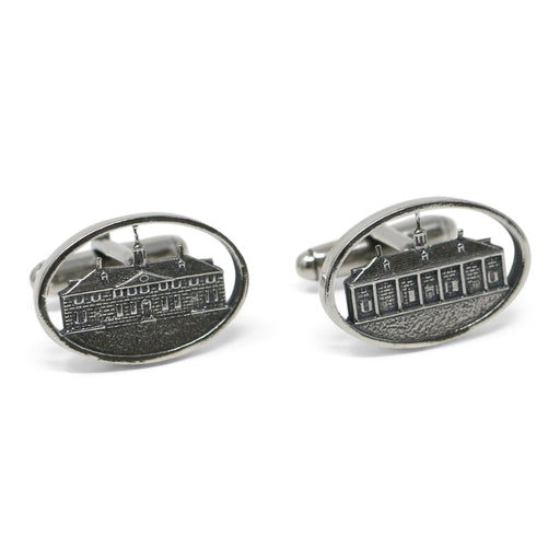 Sterling Silver Mount Vernon Mansion Cufflinks - The Shops at Mount Vernon - The Shops at Mount Vernon