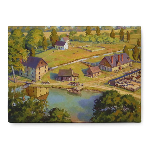"Distillery & Gristmill 9"" x 12"" Stretched Canvas - The Shops at Mount Vernon - The Shops at Mount Vernon"