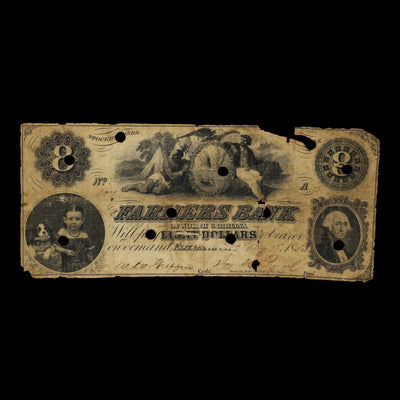 Farmers Bank of North Carolina $8.00 Note