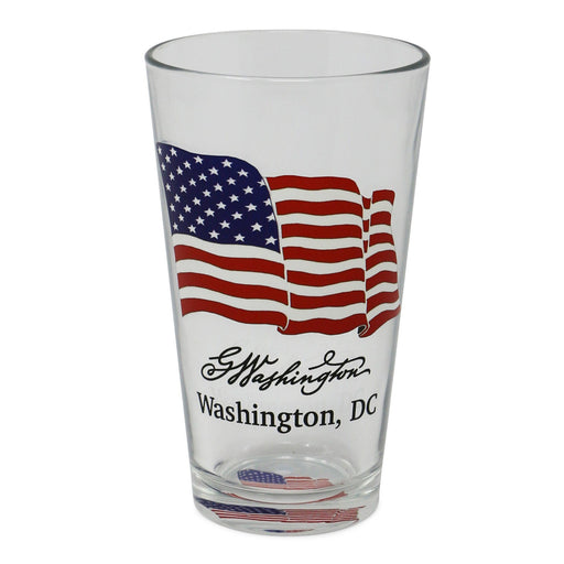 US Flag Pint Glass - CULVER GLASSWARE - The Shops at Mount Vernon
