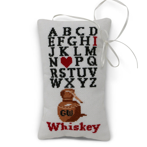 I Love Whiskey Cross Stitch Ornament - The Shops at Mount Vernon - The Shops at Mount Vernon