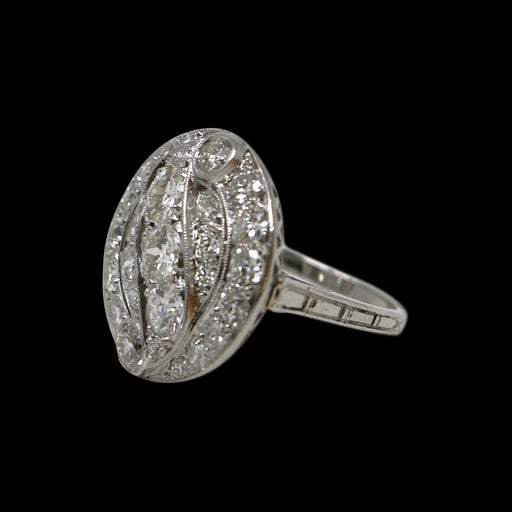 Art Deco Diamond Ring - THE ANTIQUE GUILD - The Shops at Mount Vernon