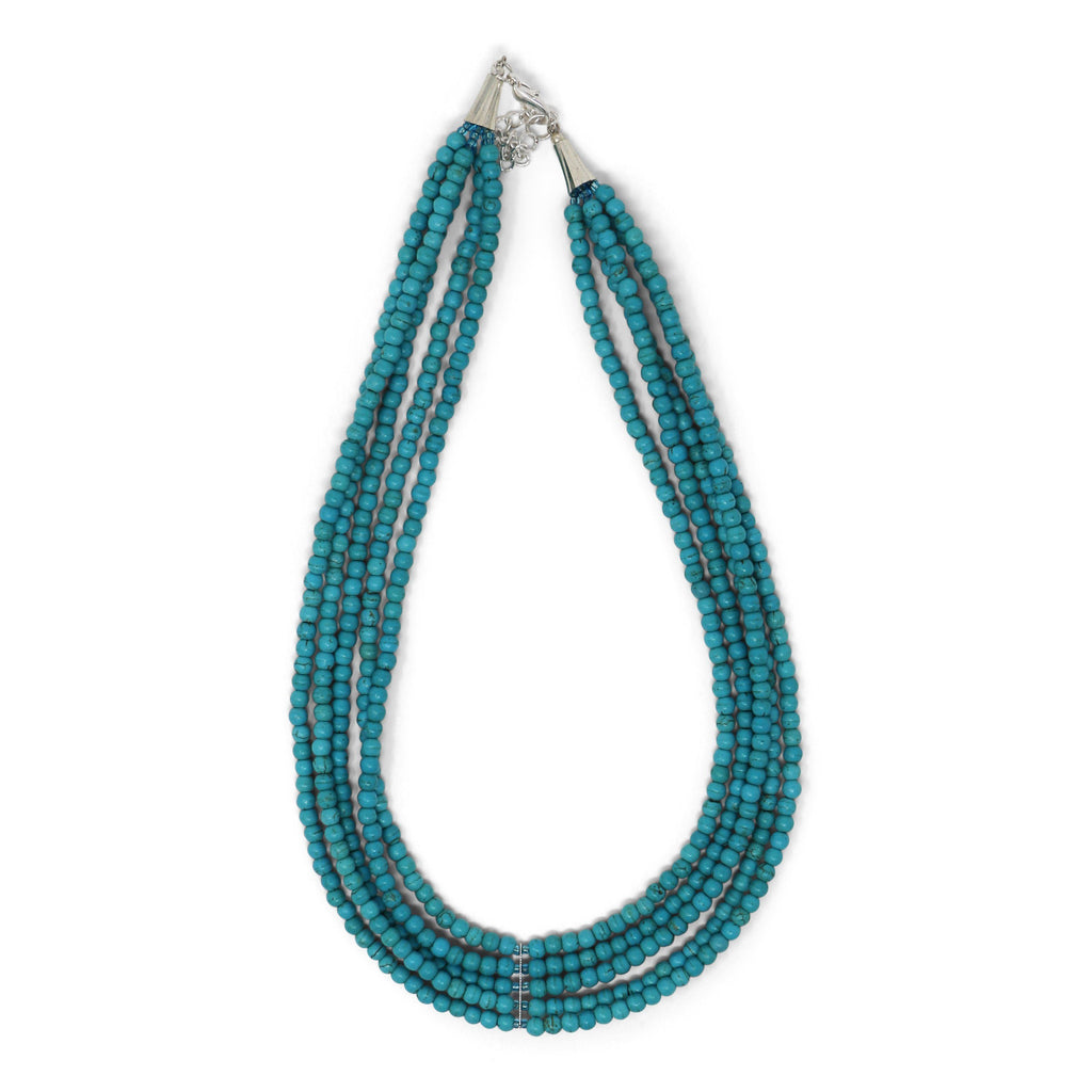 Five Strand Turquoise Colored Necklace