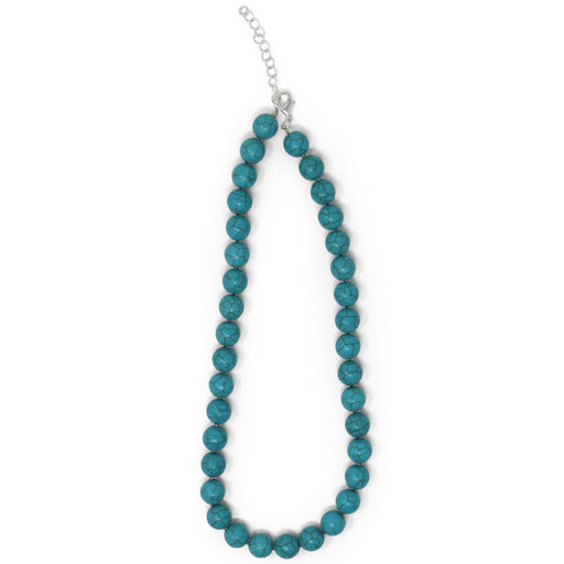 Turquoise Colored Bead Necklace - Valerie Sanson - The Shops at Mount Vernon