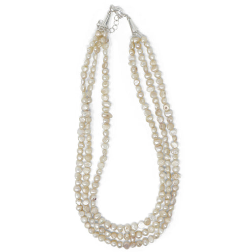 Triple Strand Freshwater Pearl Necklace - Valerie Sanson - The Shops at Mount Vernon