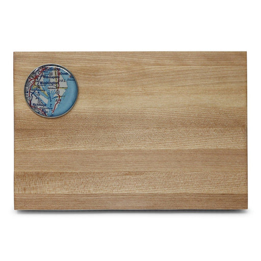 Mount Vernon Chesapeake Bay Map Cutting Board - Chart Metalworks - The Shops at Mount Vernon