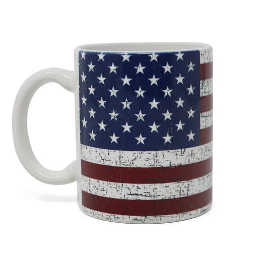 Rustic US Flag Mug - The Shops at Mount Vernon - The Shops at Mount Vernon